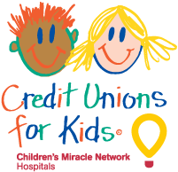 credit unions for kids benefiting the Children's Miracle Network Hospitals logo